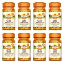 8 Sundown Naturals Folate 400 mg Vitamins, 350 Tablets Each, Exp 06 22 - $37.22