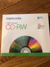 New CD-ROM High Speed Memorex 5 Pack 12 X 700MB 80MM - $9.85