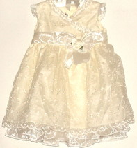 GIRLS YELLOW LACE DRESS SIZE 24 MOS - $6.99