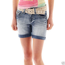 Wallflower Five-Pocket Shorts Juniors Size 1 New Msrp $36.00 Med Wash - $12.99