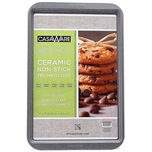 """CasaWare Ceramic Coated NonStick Cookie/Jelly Roll Pan 11""""x17"""" Silver Gr... - $15.24"""