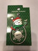 "Christmas Tree Ornament Snowman ""James"" Vintage Rare Ships N 24h - $11.86"