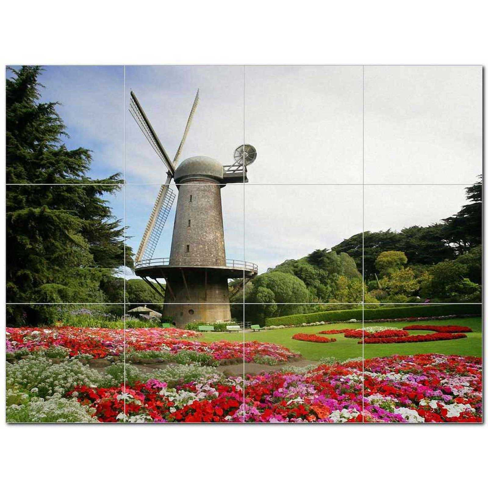 Primary image for Windmill Photo Ceramic Tile Mural Kitchen Backsplash Bathroom Shower BAZ406343