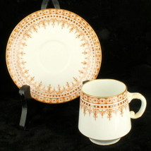 Antique Aesthetic Period Demitasse Cup & Saucer EJDB Bodley HP Staffordshire - $53.99