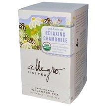 Allegro Fine Tea Organic Relaxing Chamomile Caffeine Free 20 Tea Bags 1.05 oz (3 - $43.71