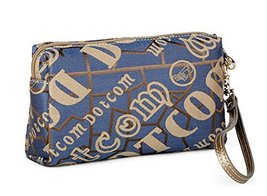 Smart Casual Clutch Bags Canvas Clutch Handbags Design For You BLUE