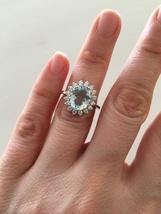 Natural Aquamarine Ring  Royal Engagement Ring, 1.94ct Aquamarine Ring  - $295.00