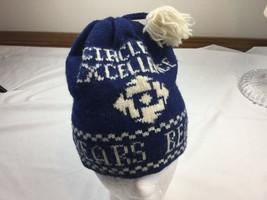 bears blue white vintage wool hat cap international dry goods  Minnesota... - $18.69