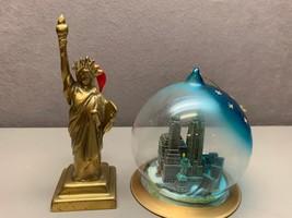 Restoration Hardware Brass Statue of Liberty and NYC Globe Ornaments - $29.69