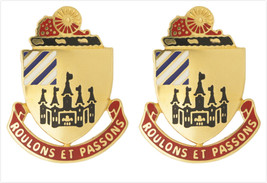 Genuine U.S. Army Crest: 3RD Support Battalion (Roulons Et Passons) - $19.78