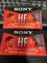 2 Pack SONY HF 90 Minutes High Fidelity Normal Bias Audio Cassette Tapes... - $8.42