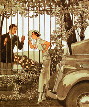 Vintage POSTER.Stylish Graphics.Girl with broken car.Love.Room Decor.638 - $10.89+