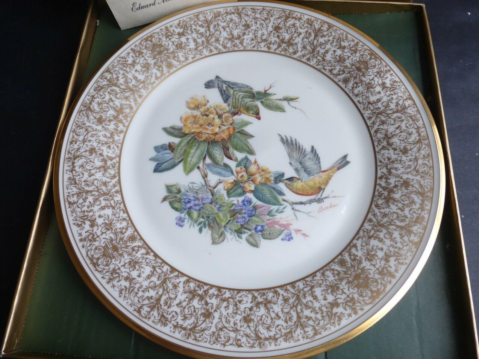 LENOX BOEHM BIRDS The Goldfinch 1971 Porcelain Plate 24-karat Gold