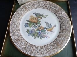 LENOX BOEHM BIRDS The Goldfinch 1971 Porcelain Plate 24-karat Gold image 1