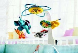Fisher Price Vintage 2004 Learning Patterns Baby Infant Musical Mobile Zoo - $49.49