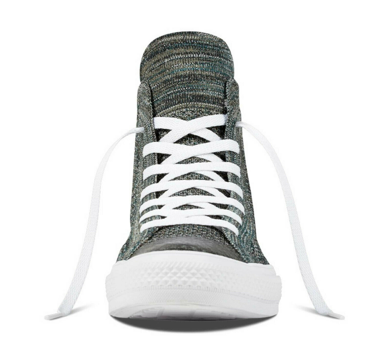 Converse Mens Chuck Taylor All Star Hi Flyknit 157509C Teal/White Size 10 image 3