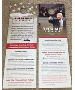 10 PRESIDENT DONALD TRUMP OFFICIAL CAMPAIGN DOOR HANGERS MAGA 2016 Souve... - $5.90
