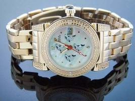 LADY AQUA MASTER ROUND WITH 16 DIAMONDS WATCH Gold Tone case - $158.39