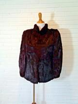 Vintage Dyed French Rabbit Fur Jacket Size Medium  - $24.74