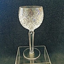 "Older Waterford Crystal Alana Wine Tall Excellent Shape 7 1/2""  - $64.35"