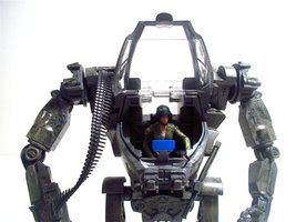 Avatar Amp Suit Custom With Trudy rare figure Hand Painted Hot Toys Aliens See! - $100.00