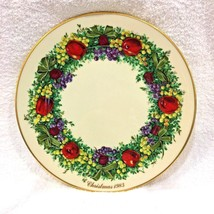 "Maryland Colonial Christmas Lenox Wreath Plate 3rd 1983 10 3/4"" Excellen... - $68.81"