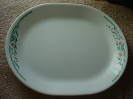 Corelle Rosemarie 12.25 Inch Oval Serving Platter Brand New Free Usa Shipping - $28.04