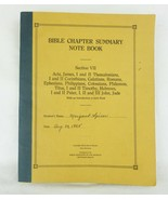 Antique Bible Chapther summary note book section VII booklet - $17.77