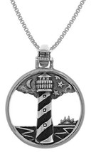 Jewelry Trends Sterling Silver Cape Hatteras Lighthouse Pendant on 18 In... - $35.33