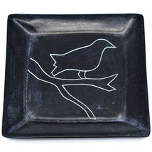 Vaneal Group Hand Carved Kisii Soapstone Raven Halloween Trinket Dish Kenya