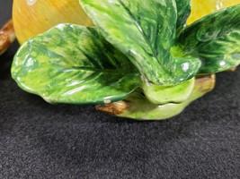 Vintage Arnalt Japan Wall Hung Fruit, Lemon and Pear, Ceramic Capodimonte Style image 5