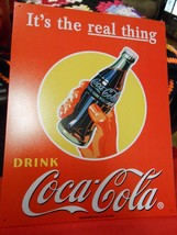 Great Collectible COCA COLA Tin Sign IT'S THE REAL THING - $19.39