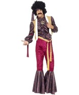 70's Psychedelic Rocker Costume with Flares, UK 16-18 - $53.93