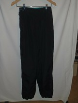 MEDIUM M Vintage Columbia Mens Snow Pants Ski Snowboarding Black Teal - $28.04