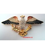 EISENBERG ICE Patriotic Red White Blue American Eagle Flag Pin Brooch - $44.95