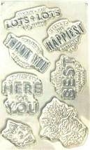 Sentiments Stamp Set - 7 Pieces