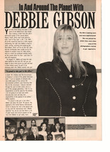 Debbie Gibson teen magzine pinup clipping in and around the planet with Debbie