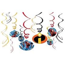 "Amscan Disney/Pixar Incredibles 2"" Swirl Value Pack 12ct, Party Favor - $7.62"