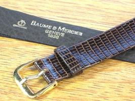Baume & Mercier Genuine Vintage Swiss Watch Strap Band Brown Lizard Leat... - $118.75