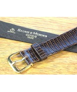 Baume & Mercier Genuine Vintage Swiss Watch Strap Band Brown Lizard Leat... - $118.75