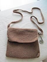 The SAK Sand Crochet Shoulder Cross-body Small Handbag Purse w/ Zipper Closure - $17.89