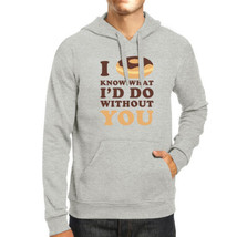 I Doughnut Know Unisex Grey Graphic Hoodie Unique Design Pullover - $25.99+