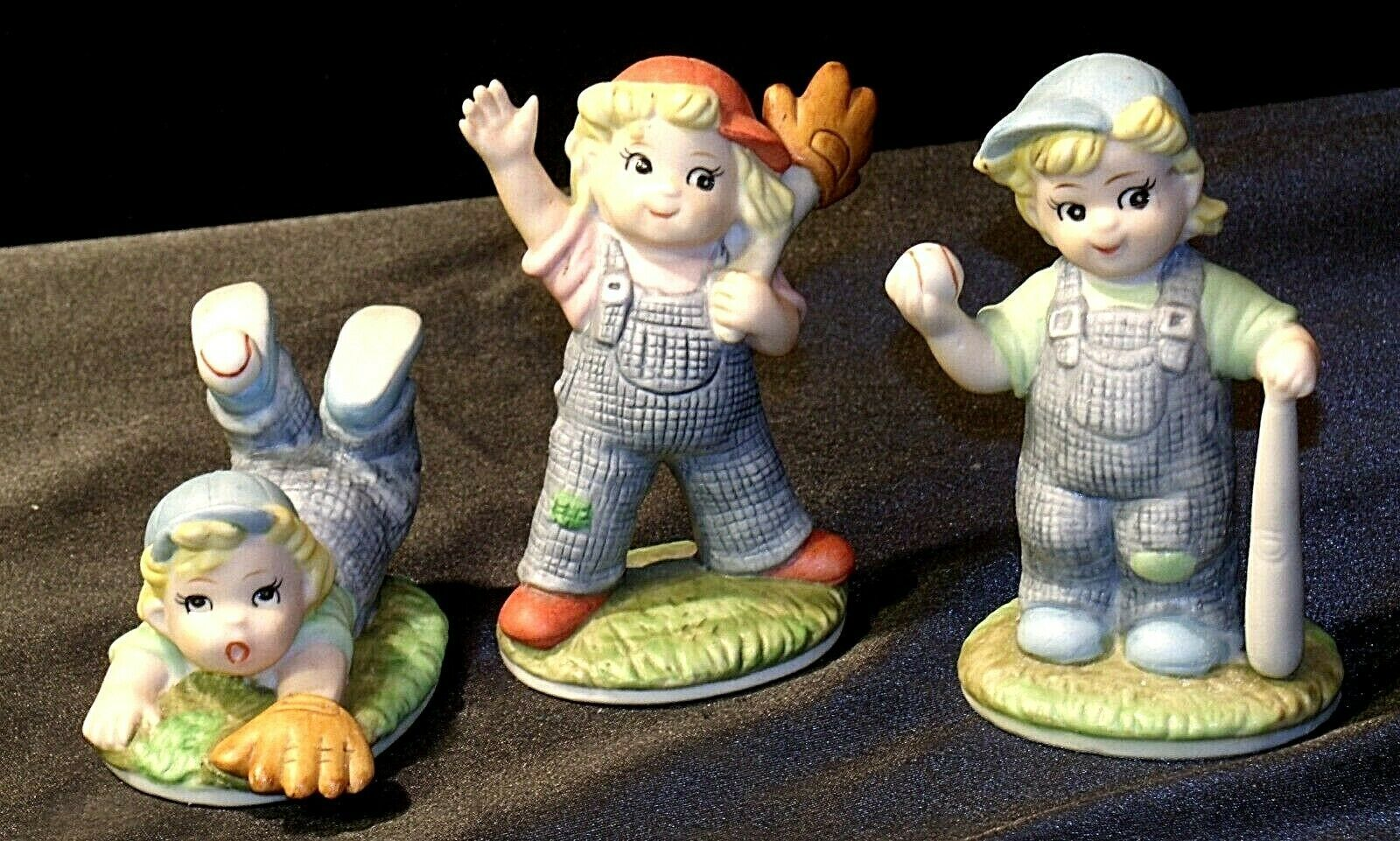 Baseball Player Figurines  ( 3 Pieces) AA-192029 Vintage