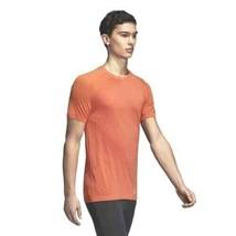 adidas Men Ultra Light Primeknit Running Tee CZ5280 Size M Amber Orange ... - $36.95