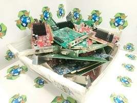 15.03 LBS Mixed SCRAP Video Graphics Cards NON-WORKING GOLD,SILVER Recov... - $74.98