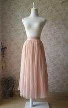Blush Pink Long Tulle Skirt High Waisted Plus Size Long Tulle Tutu Blush Skirt image 1