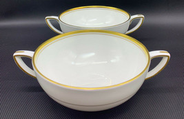 Set of 2 Royal Worcester VICEROY Gold Trim Cream Soup 51 Fine Bone China... - $28.49