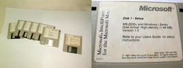 Microsoft windows operating system version 3.11 6 3.5 disks + mouse - $35.00