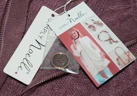 Simply Noelle Brand JCKT222Z Womens Mauve Zippered Sweater Jacket Size XXL image 8