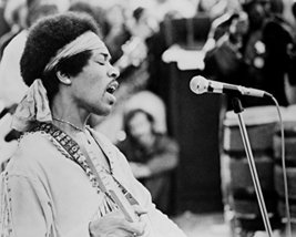 Jimi Hendrix Performing On Stage At Woodstock 1969 16X20 Canvas Giclee - $69.99